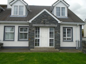 Donegal Slate - Porch with Limestone Lintel