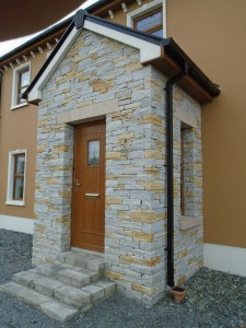 Donegal Quartz - Porch with Granite  lintels and Sills
