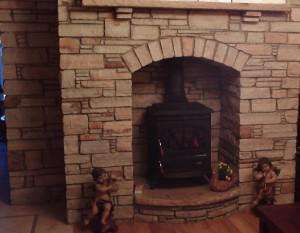 Brown Quartz Fireplace 2