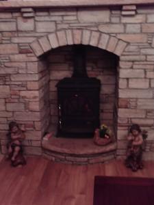 Brown Quartz Fireplace