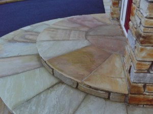 Donegal Quartz with Sandstone Pavers