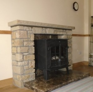 Small Fireplace-Side View